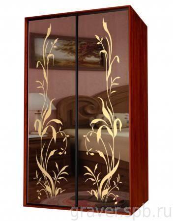 Гравировка на зеркале рисунки,узоры и надписи любой сложност.
